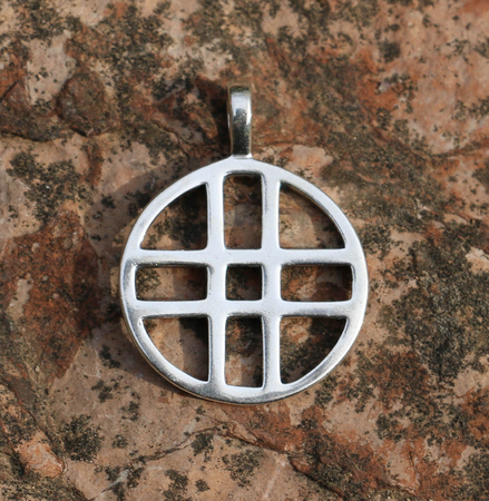 DOUBLE CROSS, SILVER PENDANT