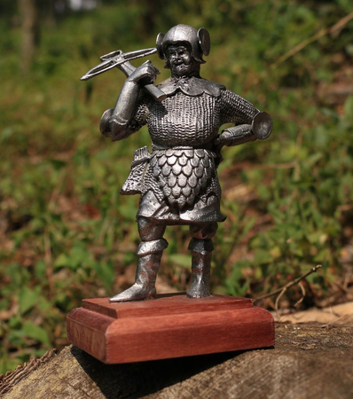 CROSSBOWMAN, HISTORICAL TIN STATUE