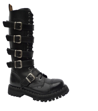 STEEL BOOTS ROCK 5P BLACK