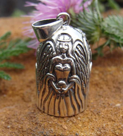 SILVER BELL PENDANT WITH ANGEL, AG 925