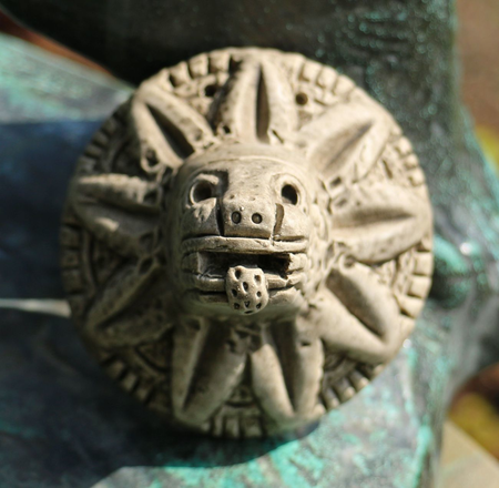 QUETZALCOATL, FEATHERED SERPENT, AZTEC SCULPTURE, REPLICA