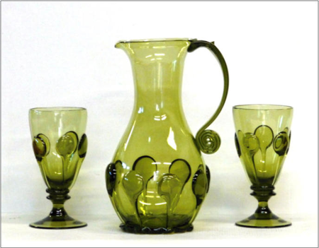 PERCHTA, SET OF MEDIEVAL GLASS 2 + 1