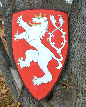 BOHEMIAN LION, COAT OF ARMS, SHIELD