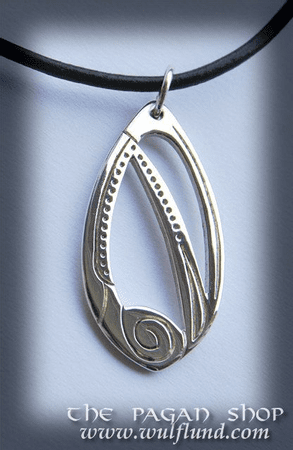 CELTIC NECKLACE, HANDCRAFTED SILVER PENDANT, XVII