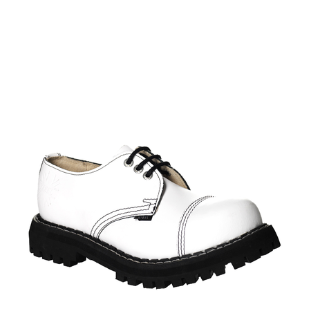 LEATHER BOOTS STEEL WHITE FULL 3-EYELET-SHOES