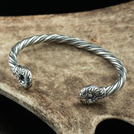 CELTIC WARRIOR'S BRACELET, STERLING SILVER, AG 925