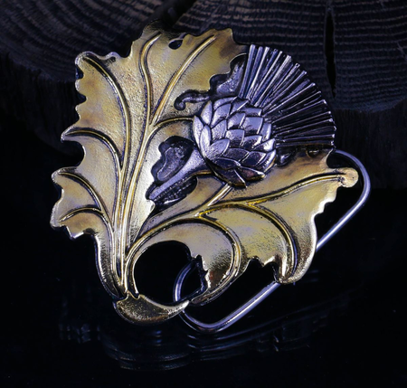 ALBA, SCOTTISH THISTLE, BELT BUCKLE