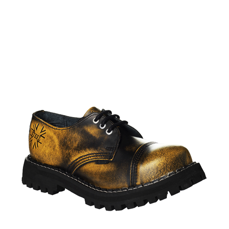 LEATHER BOOTS STEEL YELLOW 3-EYELET-SHOES