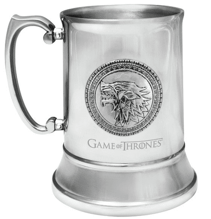 GAME OF THRONES STAINLESS STEEL STEIN STARK