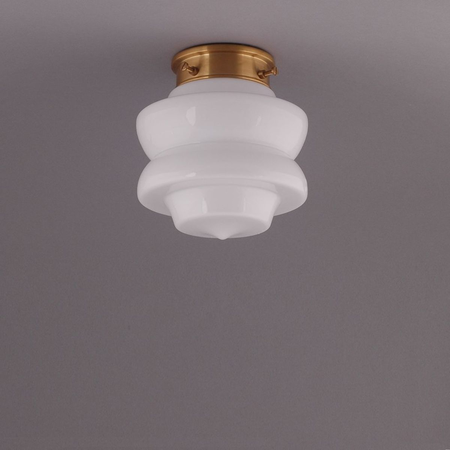 SMALL TOP, CEILING LAMP, BRASS ROUND FIXTURE