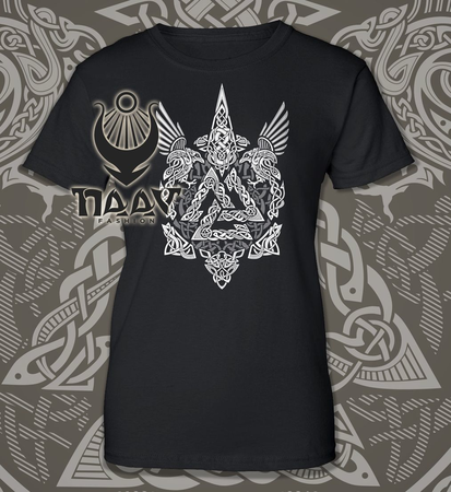 VALKNUT - VIKING WOMEN'S T-SHIRT B&W