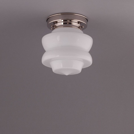 SMALL TOP, CEILING LAMP, NICKLE STRAIGHT FIXTURE