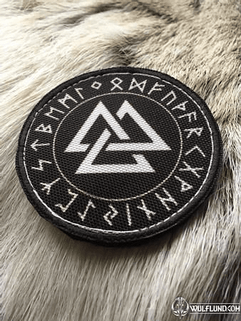 VALKNUT AND FUTHARK, VELCRO PATCH