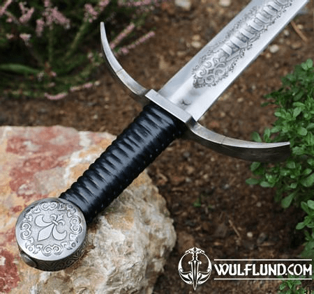 ULTIMA RATIO REGUM ETCHED SINGLE HANDED SWORD FULL TANG