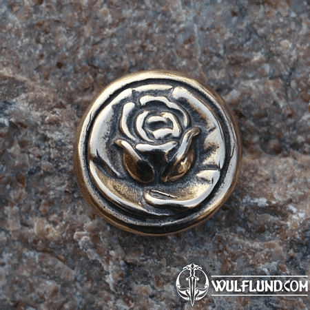 ROSE, BUTTON, BRONZE