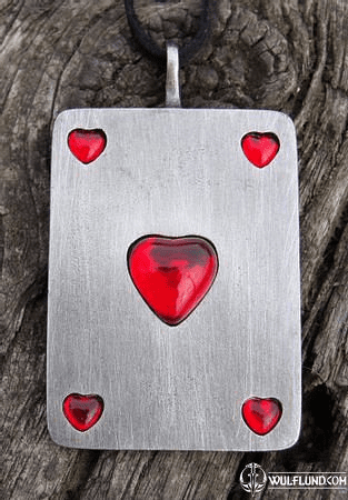 ACE OF HEARTS PENDANT, HEARTS