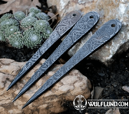 VENGEANCE ETCHED THROWING KNIFE - SET OF 3