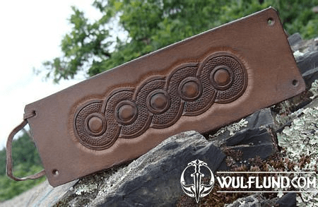 LEATHER WRISTBAND WITH SLAVIC SYMBOLS