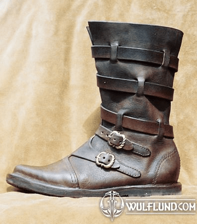 DUKE, LEATHER HALF BOOTS