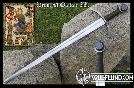 FORGED SWORD OTTOKAR II OF BOHEMIA, BATTLE READY REPLICA