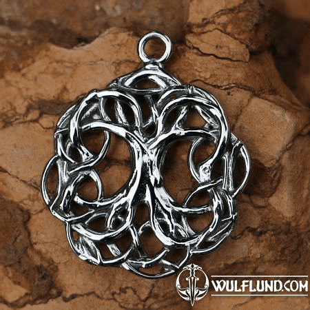 CELTIC TREE OF LIFE, KNOTTED, PENDANT STAINLESS STEEL