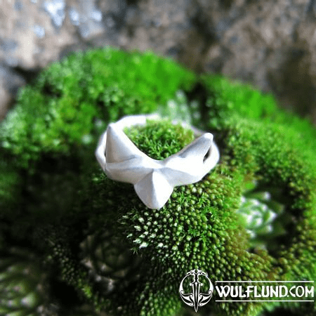 LITTLE FOX, CUBIST RING, STERLING SILVER
