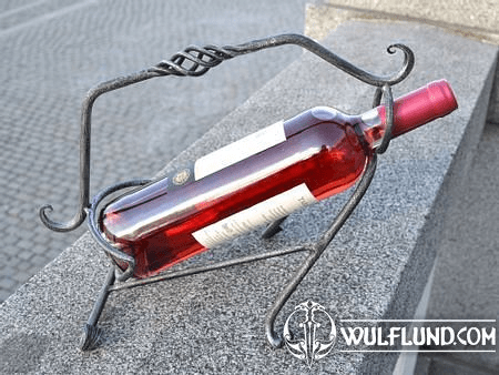 FORGED IRON WINE HOLDER