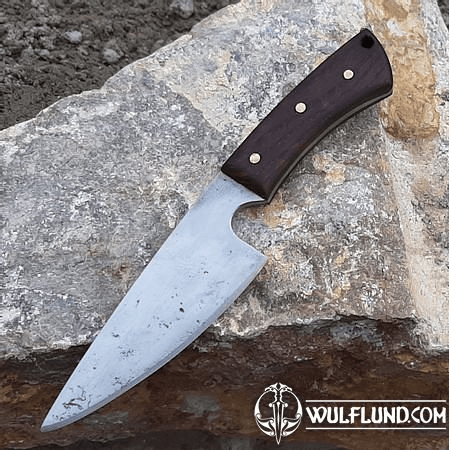 RUFUS, HAND FORGED BLACK KNIFE