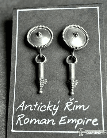 ROMAN EMPIRE EARRINGS, REPLICAS, AG 925