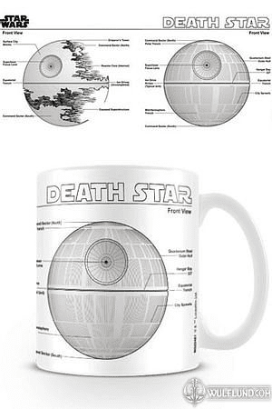 STAR WARS MUG DEATH STAR SKETCH