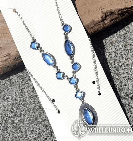 DORIS, NECKLACE, BLUE GLASS