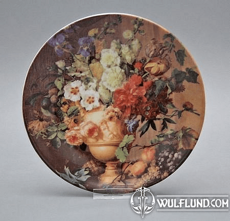 FLOWERS - PLATE, PORCELAIN FROM CARLSBAD
