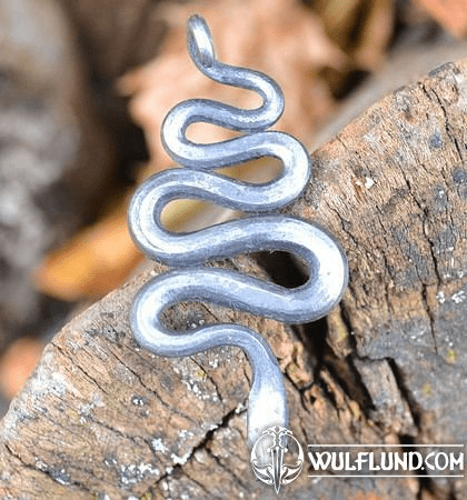 SNAKE- FORGED IRON TALISMAN
