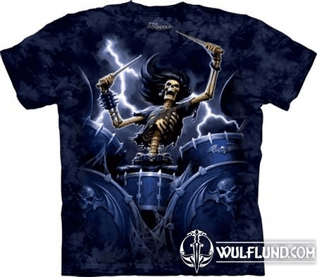 DEATH DRUMMER - FANTASY SHIRT SKULBONE, THE MOUNTAIN