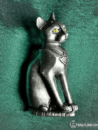 BASTET, COSTUME BROOCH