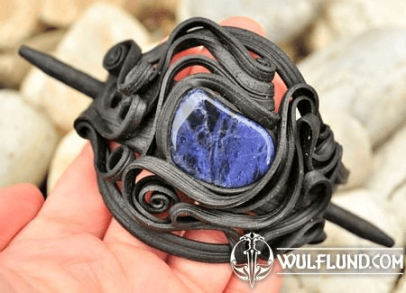 HAIR BROOCH WITH SODALITE