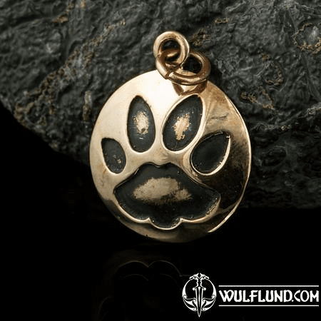 CAT TRACK, PENDANT, BRONZE