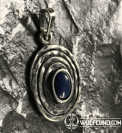 GHORM, STERLING SILVER PENDANT, SODALITE