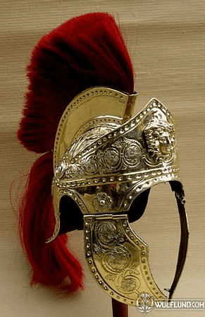 PRAETORIAN OR ROMAN TRIBUN HELMET, COLLECTIBLE REPLICA