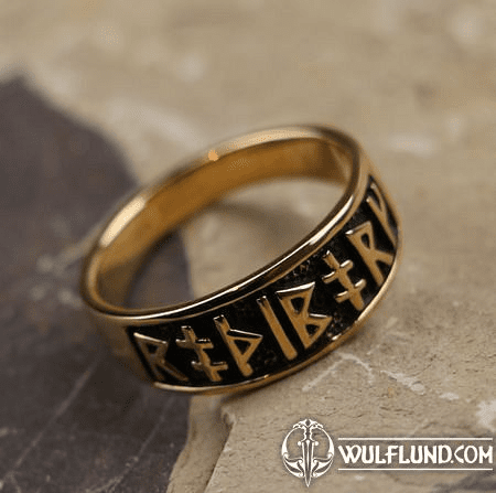 RUNIC RING FROM BRONZE
