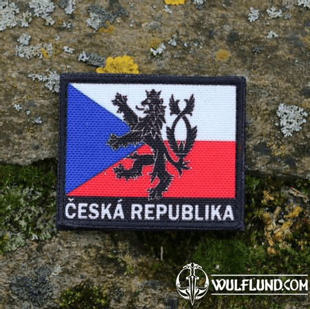 CZECH FLAG COLOURED, VELCRO PATCH