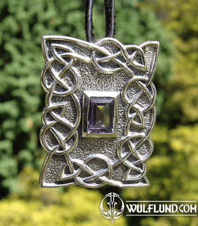 JEWEL OF GUINEVERE, SILVER PENDANT WITH AMETHYST, AG 925
