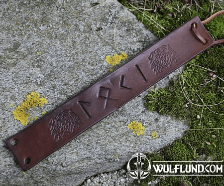 LOKI, LEATHER BRACELET, BROWN