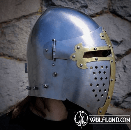 MEDIEVAL VISOR HELMET, COMBAT VERSION 2 MM