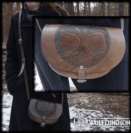 TREE OF LIFE, LEATHER HANDBAG