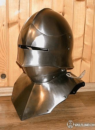 GERMAN GOTHIC SALLET AND BEVOR