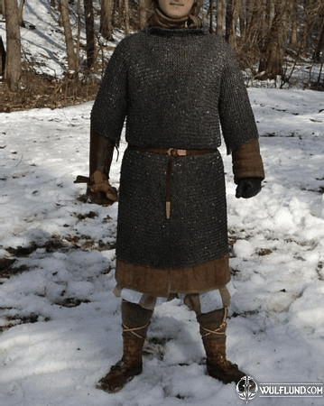 CHAINMAIL SHIRT - HAUBERK, RIVETED, 8 MM, SHORT SLEEVES, CHEST SIZE 120 CM