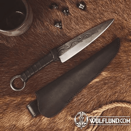 CRUACHAN, FORGED CELTIC KNIFE WITH SHEATH