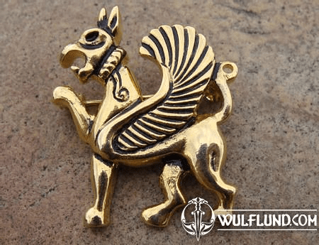 GRIFFIN, COSTUME BROOCH