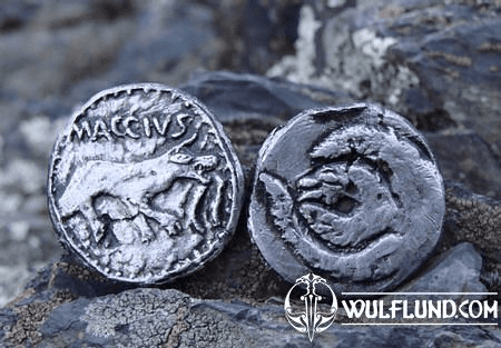 MACCIUS, CELTIC TETRADRACHM, REPLICA